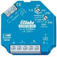 EUD61M-UC, Universal dimmer, R og C last, LED m/driver og 230V LED