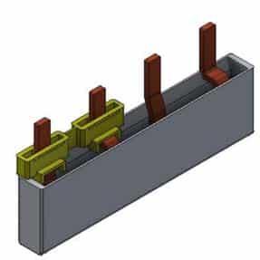 Fordelingsskinne for OV/Overspenningsven 2P, 4 moduler, MB2F/4