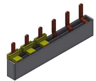 Fordelingsskinne for OV/Overspenningsven 3P, 6 moduler, MB2F/6
