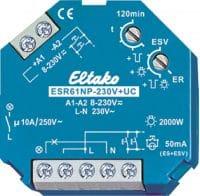 ESR61NP-230V+UC. Av/på eller impuls rele. 1NO, 10A/250V.