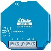 ER61-UC. Av/på rele. 1 veksel kontakt, 10A/250V
