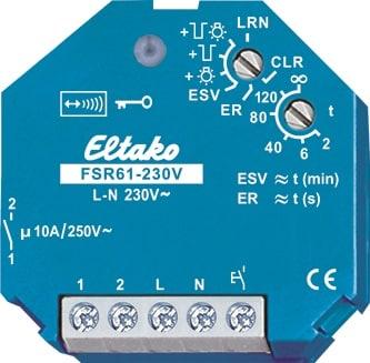 FSR61-230V. Bryte aktuator. 1NO, 10A/250V