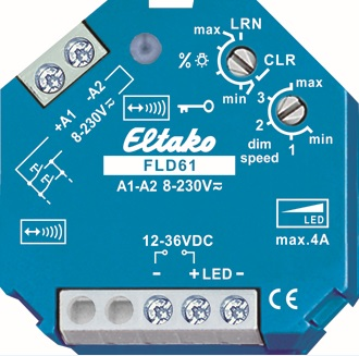 FLD61. Lav volt dimme aktuator. 12-36VDC, inntil 4A