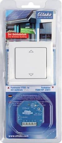 Startsett m/trådløs bryter: BPS55. FT55-wg og universal dimme aktuator
