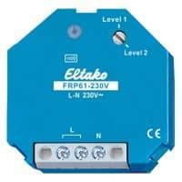 FRP61-230V. EnOcean forsterker for veggboks. Velg mellom nivå 1 og 2. 45x45x33mm.