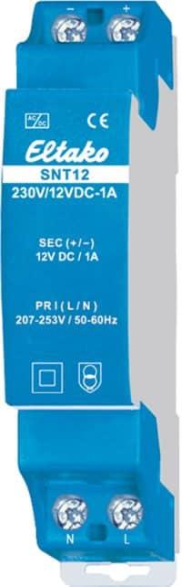 SNT12-230/12V. Trafo 230VAC/12VDC-1A