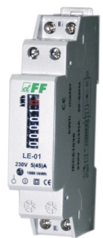 LE-01. kWh måler. 1 fas. Inntil 45A analog