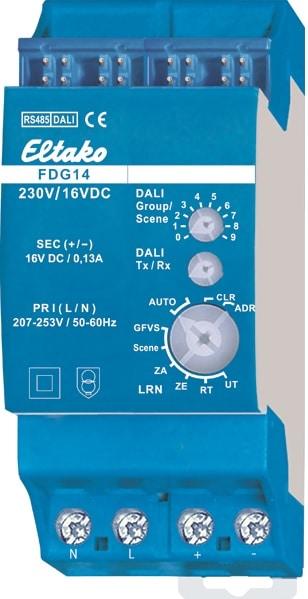 FDG14. DALI dimmer. 64 DALI enheter
