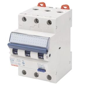 Jordfeilautomat, A, 13A, 3P, 30mA, C karakteristikk, GW94351