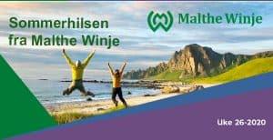 Sommerhilsen bilde fra Malthe Winje 2020