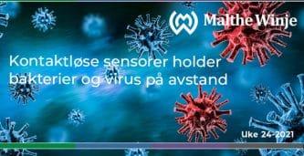 Kontaktløse sensorer holder bakterier og virus på avstand