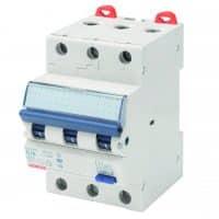 Jordfeilautomat, A, 10A, 3P, 300mA, C karakteristikk, GW94356