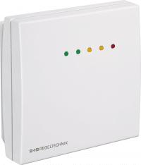RCO2-W-A, CO² og tempsensor for rom med LED, 0-10V/4-20mA Multirange